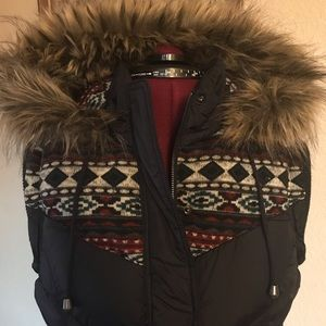 Forever 21 Winter Vest Coat with Hood